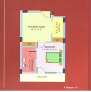 RISHI APARTMENTS  1 BHK (Ready to Move) TYPE:01 Super Area: 800 Sq.ft.